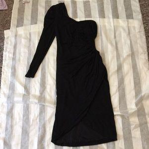 Kardashians for Bebe black dress